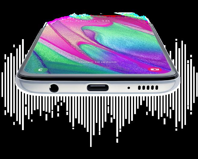 Samsung Galaxy A40 - Sunet pentru experiente muzicale